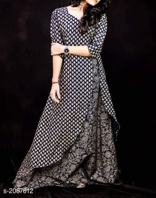 Attractive Rayon Women's Kurti Set