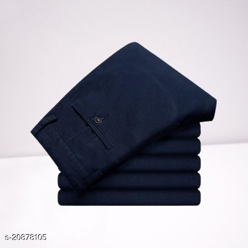 fashlook navy casual pant for men