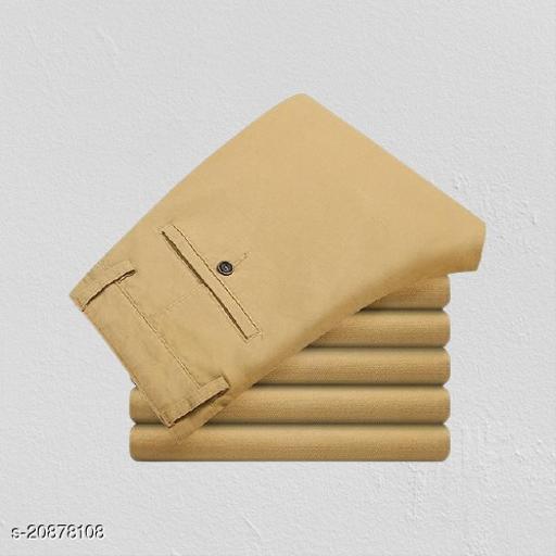 fashlook cream  casual pant for men