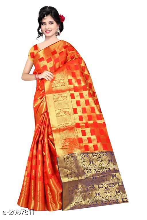 Sarees Trendy Women's Banarasi Silk Woven Saree  *Fabric* Saree - Banarasi Silk , Blouse - Banarasi Silk 