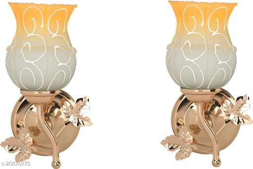 VERMA New Stylish & Decorative Golden Fitting Wall Lamp Light , Set Of Two-DF38