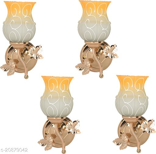 VERMA New Stylish & Decorative Golden Fitting Wall Lamp Light , Set Of Four-DF55