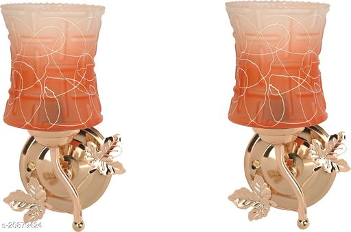 VERMA New Stylish & Decorative Golden Fitting Wall Lamp Light , Set Of Two-DF27