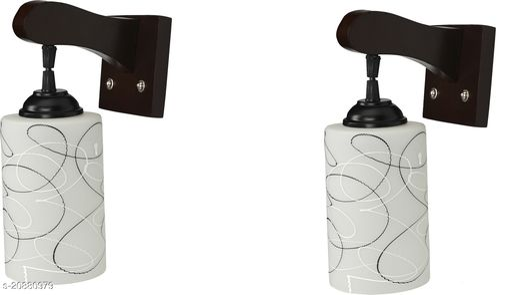 VERMA Stylish & Decorative Maroon Colorful Wall Lamp/ Light, Set Of Two-YU56