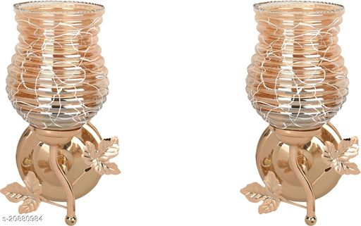 VERMA New Stylish & Decorative Golden Fitting Wall Lamp Light , Set Of Two-DF24