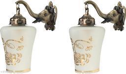 VERMA Decorative & Stylish Elephant Shape Wall Lamp Light( Set Of Two )-DD018
