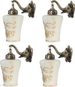VERMA Decorative & Stylish Elephant Shape Wall Lamp Light( Set Of Four)-DD034