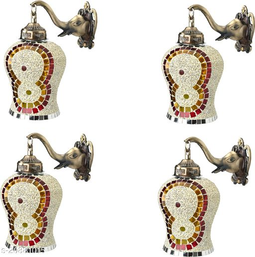VERMA Decorative & Stylish Elephant Shape Wall Lamp Light( Set Of Four)-DD037