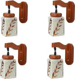 VERMA Stylish & Decorative Brown Colorful Wall Lamp/ Light, Set Of Four-YU65