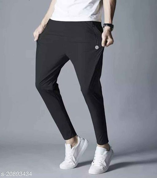 Abcustoms Black Men's Middle Waist Slim Small Feet Pants