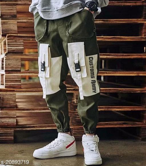 Abcustoms Herren Army Green Multi Pocket Cargo Pant