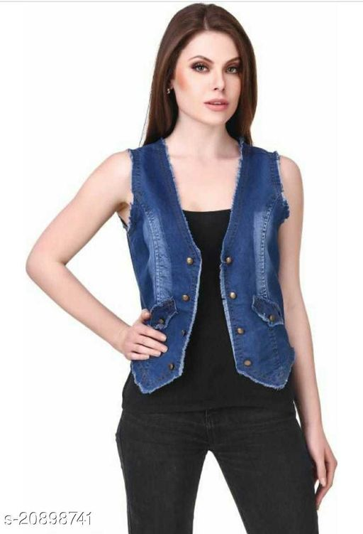 Trendy Martin Solid Denim shrug Women/Ladies Shrug/Jacket for Girls