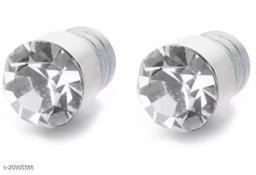 ShobhRam Silver Nug Magnetic Small 4mm for Mens/Boys/Girls/Womens/Unisex Stainless Steel Stud Earring (1 Pair) Stainless Steel Stud Earring, Magnetic Earring ()