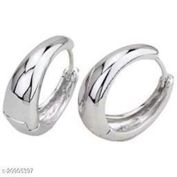 ShobhRam Silver Kaju Studs Earring for Mens/Boys/Girls/Womens/Unisex Stainless Steel Stud Earring (1 Pair) Stainless Steel Huggie Earring ()