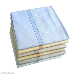 Men's Classic Cotton Handkerchief/Rumal/Hankies (Pack of 12 Pc)