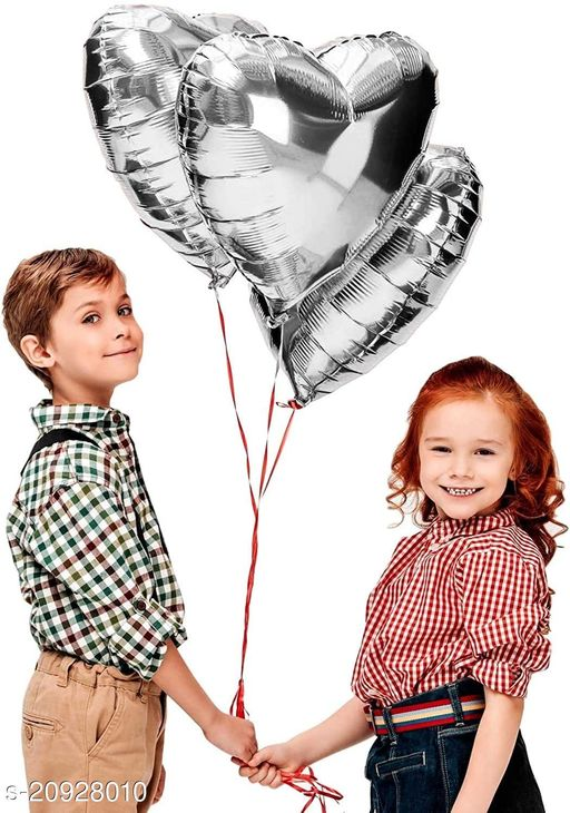 """Style Secrets Premium Quality Silver 10"""" (inch) Foil Balloon for Birthday, Anniversary, Baby Shower Decoration ( Pack of 10 Units )"""