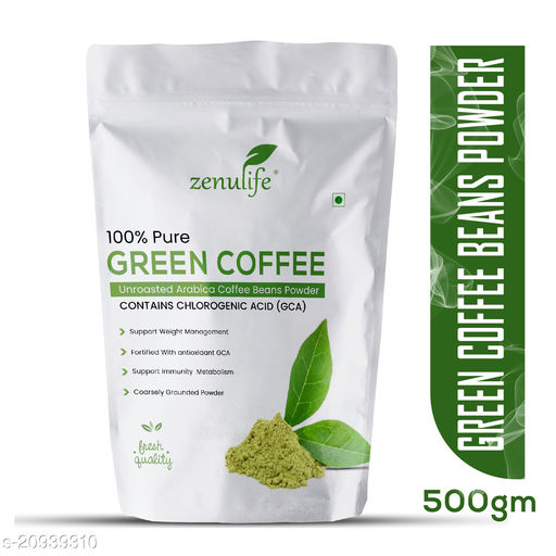 Zenulife green coffee beans Powder for weight loss 500g