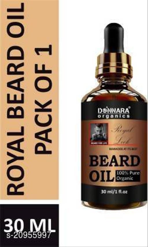 Donnara Organics 100 % Organic Royal Beard Oil- Beard For Life Style(30 ml) Hair Oil (30 ml)