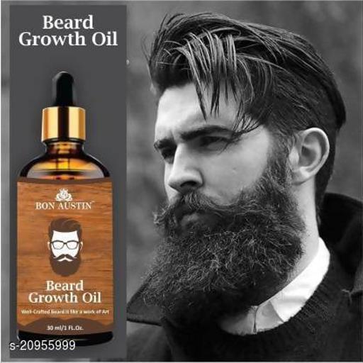 Bon Austin 100% Natural Beard Growth Oil- For Stimulating fast Beard Growth(30 ml) Hair Oil (30 ml)