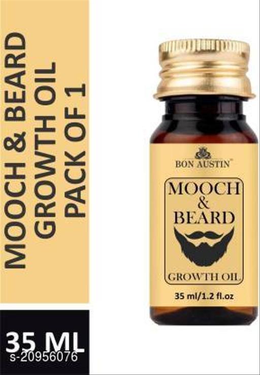 Bon Austin Lite MOOCH & BEARD GROWTH OIL- With Argan & Jojoba Growth Boosters(30 ml) Hair Oil (30 ml)
