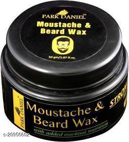 Park Daniel Moustache and Beard Wax(50 gms) Beard Cream (50 g)