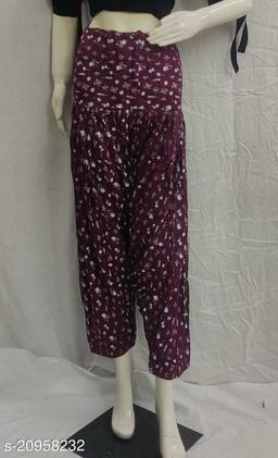 Women's Casual Rayon Printed Patiala/Salwar (Free Size)(Purple)