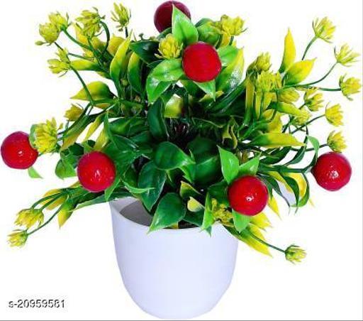 AMAPI Artificial Plant  with Pot (20.32 cm, Multicolor)