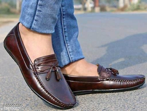 Stylish Men's Synthetic Brown Loafers