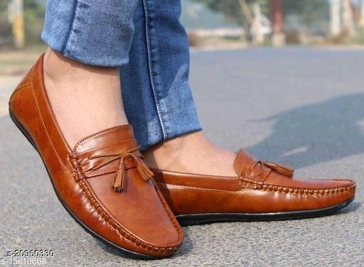Unique Men's Beige Loafers