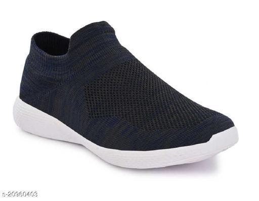 Stylish Men's Combo Mesh Navy Blue Casual Shoes