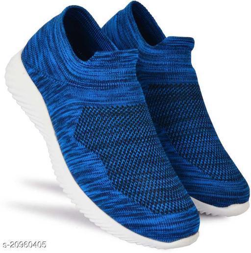 Stylish Men's Mesh Blue Sports Shoes