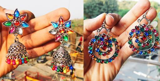 stylish designer combo of 2 earrings for women latest design