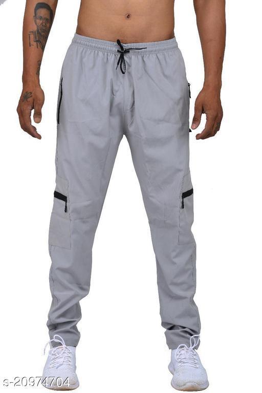 Qosha Men's Four Side Pockets Track Pants