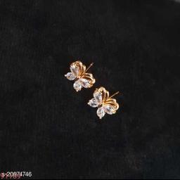 Brass Designer Gold Plated Earrings