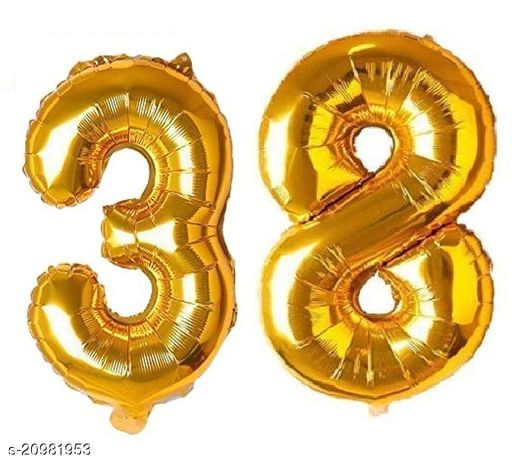 CC&S Solid '38' (THIRTY-EIGHT) Number/Digit/Numerical Foil balloon