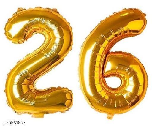 CC&S Solid '26' (TWENTY-SIX) Number/Digit/Numerical Foil balloon