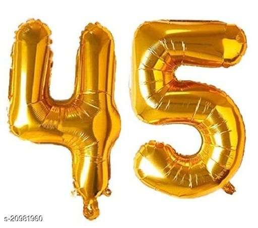 CC&S Solid '45' (FORTY-FIVE) Number/Digit/Numerical Foil balloon
