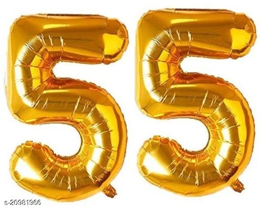 CC&S Solid '55' (FIFTY-FIVE) Number/Digit/Numerical Foil balloon
