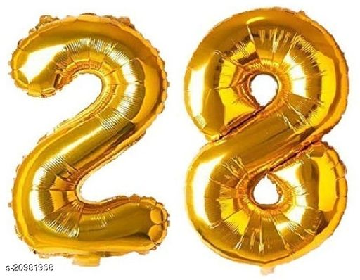 CC&S Solid '28' (twenty-eight) Number/Digit/Numerical Foil balloon