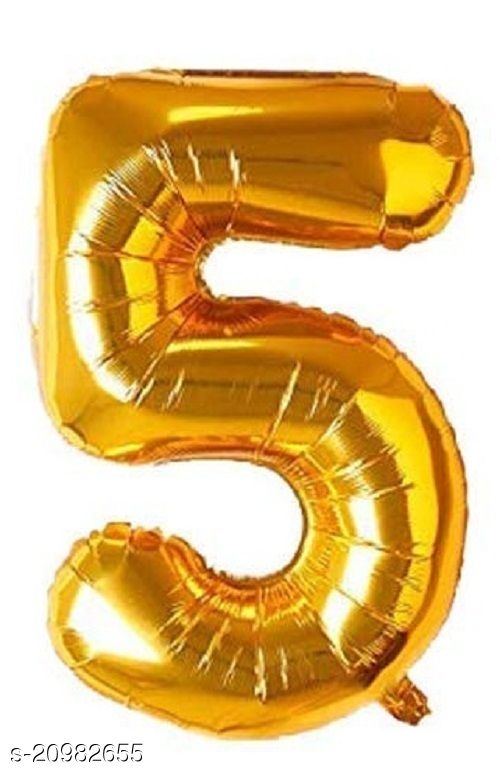 CC&S Solid '5' (FIVE) Number Foil balloon