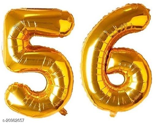 CC&S Solid '56' (FIFTY-SIX) Number/Digit/Numerical Foil balloon
