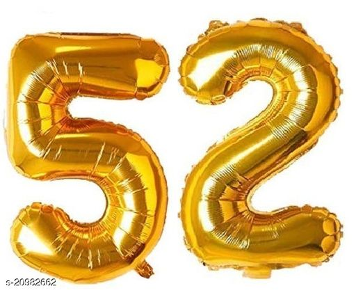 CC&S Solid '52' (FIFTY-TWO) Number/Digit/Numerical Foil balloon
