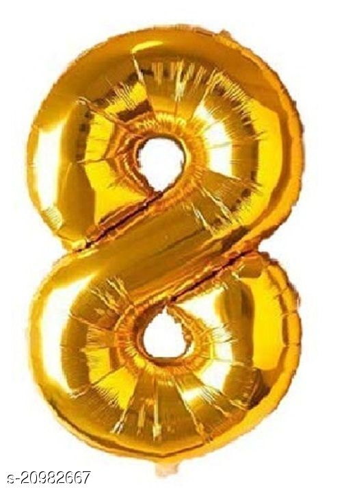 CC&S Solid '8' (EIGHT) Number Foil balloon