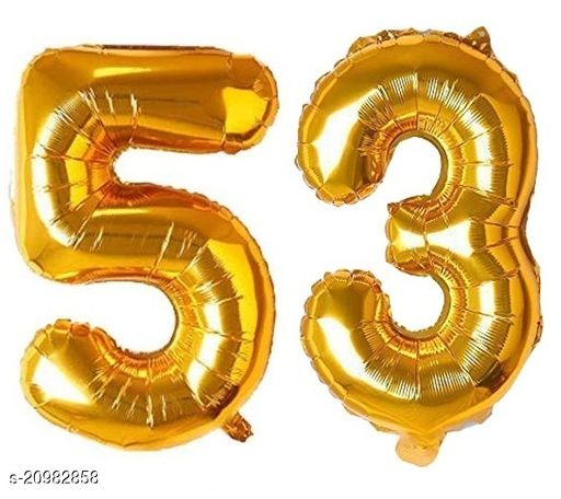 CC&S Solid '53' (FIFTY-THREE) Number/Digit/Numerical Foil balloon