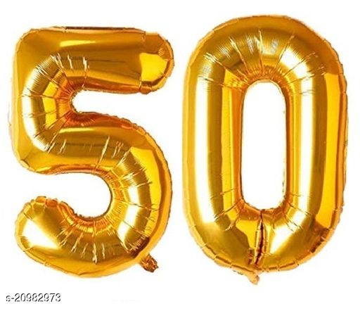 CC&S Solid '50' (FIFTY) Number/Digit/Numerical Foil balloon