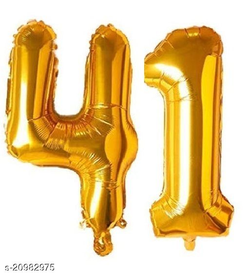 CC&S Solid '41' (FORTY-ONE) Number/Digit/Numerical Foil balloon