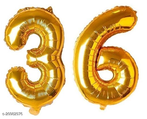 CC&S Solid '36' (THIRTY-SIX) Number/Digit/Numerical Foil balloon