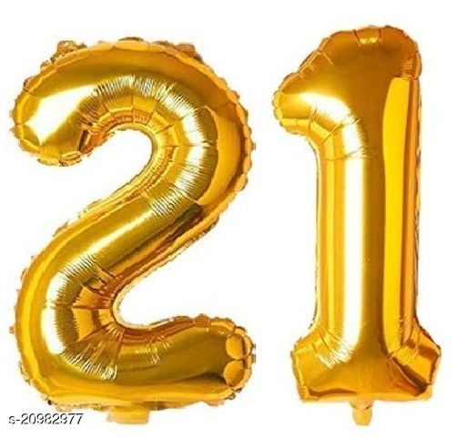 CC&S Solid '21' (TWENTY-ONE) Number/Digit/Numerical Foil balloon