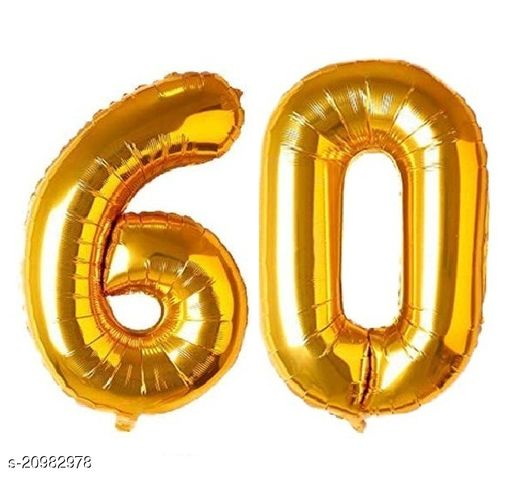 CC&S Solid '60' (SIXTY) Number/Digit/Numerical Foil balloon