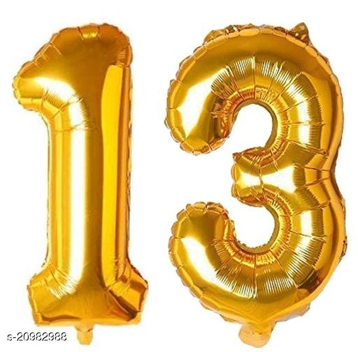 CC&S Solid '13' (THIRTEEN) Number/Digit/Numerical Foil